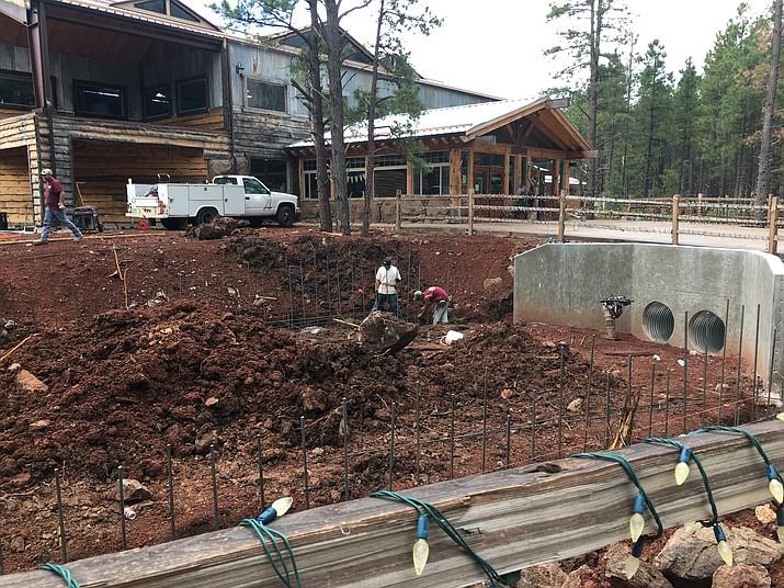 Construction is underway on a new otter habitat at Bearizona.