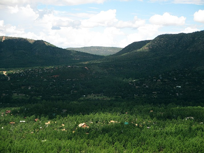 Pine Canyon Trail is part of the Arizona Trail and offers views of the Mogollon Rim.