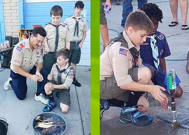 Wednesday, Boy Scout Troop 7020 and Cub Scout Pack 7029 kicked off their membership drive with an open house at the Verde Valley Teen Center in Cottonwood. On Aug. 23, the scouts will have another open house, at Camp Verde Town Hall, Room 204. (Photo courtesy of Joann Miller)