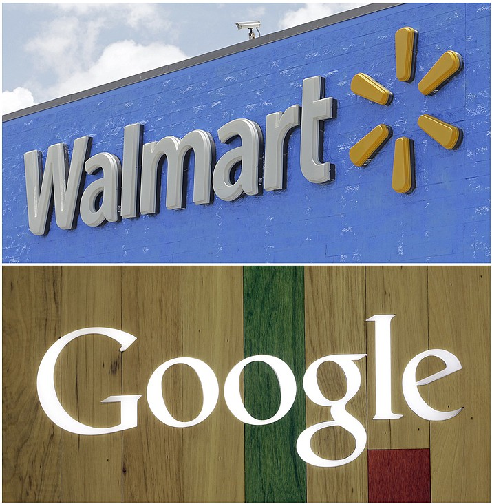 Walmart, the world's largest retailer, said Wednesday, Aug. 23, that it's working with Google to offer hundreds of thousands of items from laundry detergent to Legos for voice shopping through Google Assistant. The capability will be available in late September. (AP Photo/Alan Diaz, File)