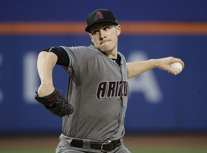 Arizona Diamondbacks' Patrick Corbin delivers a pitch during the first inning against the New York Mets on Tuesday, Aug. 22, 2017, in New York. (Frank Franklin II/AP)