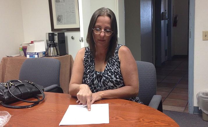 Tanya Smith works on effort to recall Mayor Monica Gates.