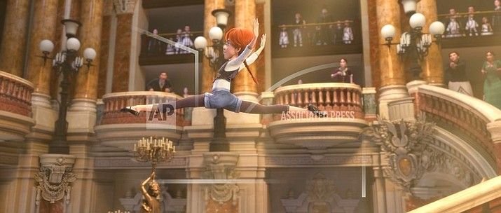 "This image released by The Weinstein Company shows a scene from, ""Leap!"" (The Weinstein Company via AP)"