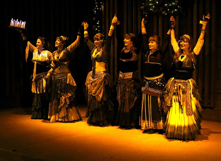 The Why Not? Bellydance members (l-r): Sarah Hinson, Chelsea Stone, Cat Moody, Laurel Kleven, Lisa Hendrickson, Brianna Rose Murphy (Lisa Hendrickson/courtesy)
