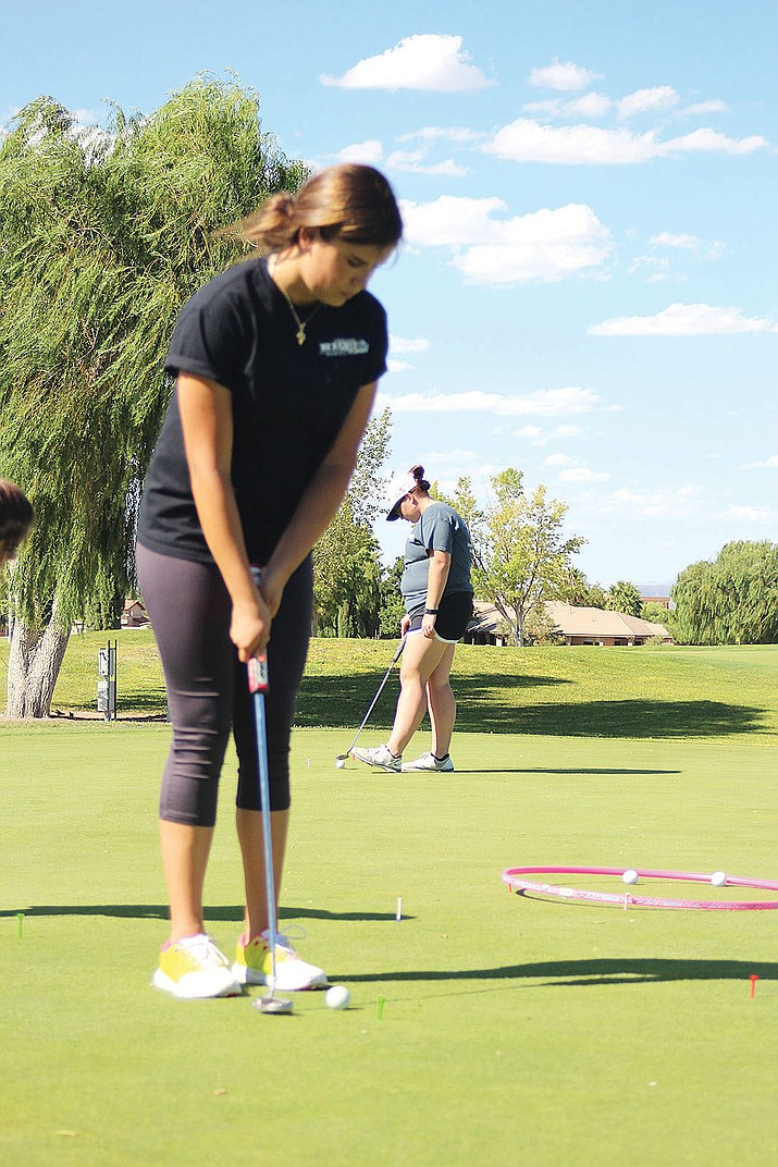 Kaylee Moore shot a 43 Wednesday to tie for third place at Arizona Traditions Golf Club..