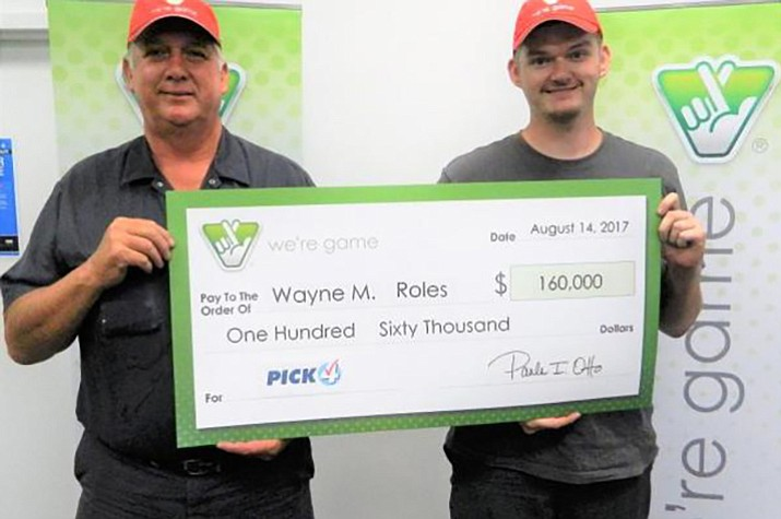 Wayne Roles of Spotsylvania, Virginia paid $32 to purchase 32 tickets, each with a $5,000 top prize. (Photo courtesy of Virginia Lottery)