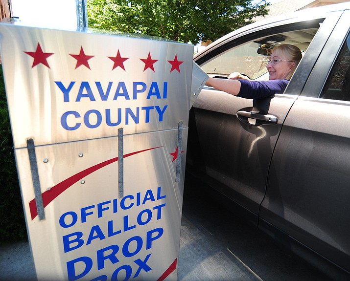 Rick Rashid drops off his ballot for the City of Prescott election Monday, Aug. 28, at the Yavapai County Administration building. All ballots must be received by 7 p.m. on Tuesday, Aug. 29. (Les Stukenberg/Courier)