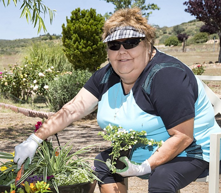 Dewey resident Linda Thompson underwent TAVR two years ago and now can work in her garden again. (YRMC/Courtesy)