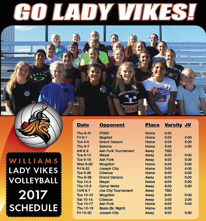 Lady Vikings volleyball schedule.
