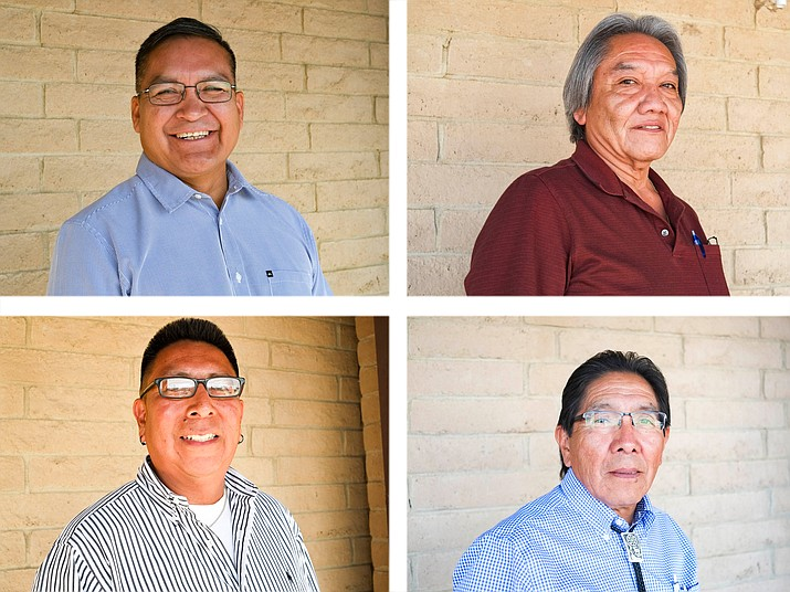 Clockwise from top left: candidates running for chairman of the Hopi Tribe Alfred Lomahquahu Jr., David Talayumptewa, Herman Honanie and Tim Nuvangyaoma.