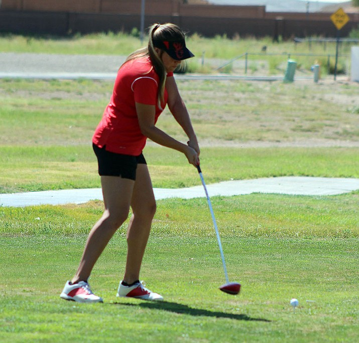 Lee Williams' Kadence Sterling shot a 10-over-par 46 Tuesday to take second place.