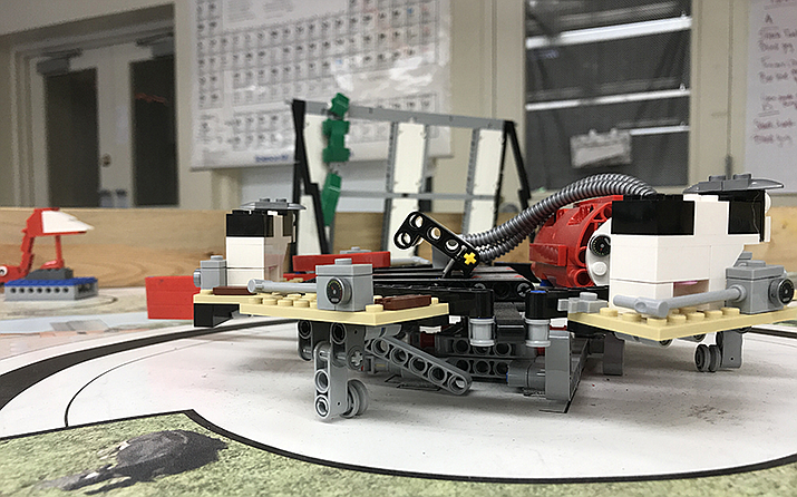STEM education starts at the youngest grade levels in Holbrook with programmable, robotic Legos.