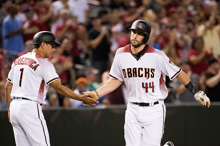 Paul Goldschmidt, who has 32 home runs and 107 RBIs, homered in three straight games for the third time in his career as the D-backs defeated the Dodgers 6-4 Wednesday night at Chase Field.