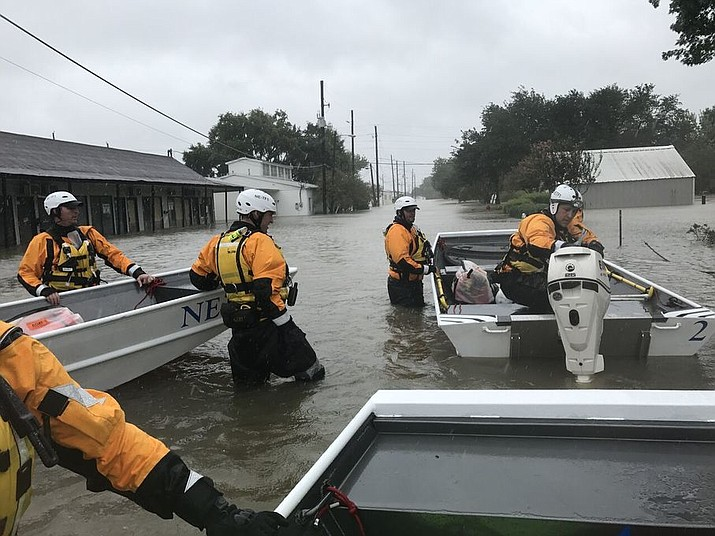 Nebraska Task Force 1 is lending a hand in the rescue operations after Hurricane Harvey landed in Texas.