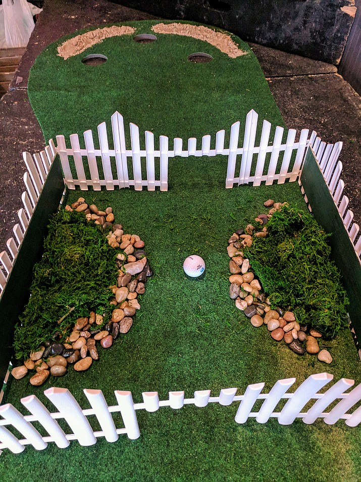 One of the putting greens that'll be featured in the Putt Putt Pub Crawl is already set up in Prescott Public House. (Bethany Walters, Prescott Public House/Courtesy)
