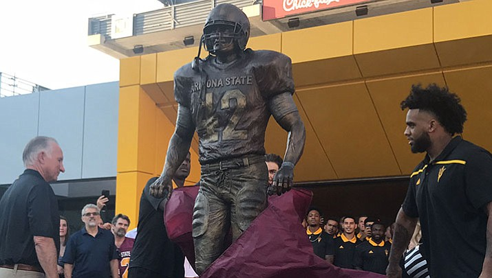A bronze statue of Pat Tillman was unveiled at Sun Devil Stadium last week. It sits near the Tillman tunnel, and ASU players will touch it as they go onto the field.