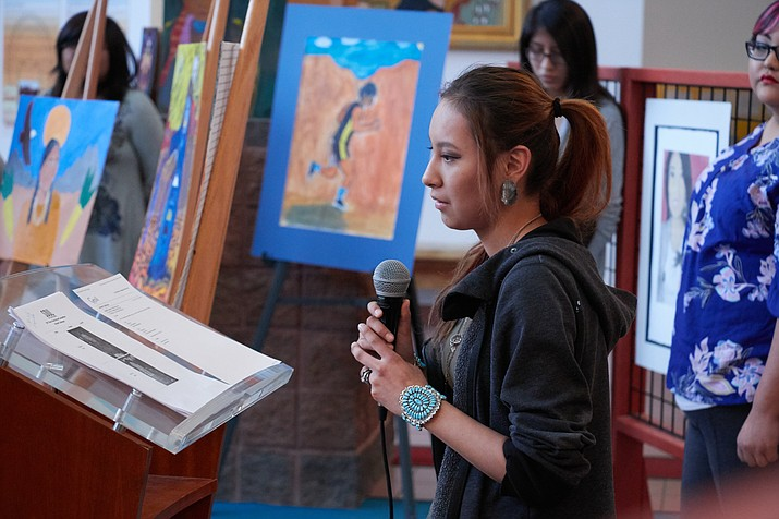 An art student selected by Soul of Nations for its art program talks about her work. Submitted photo