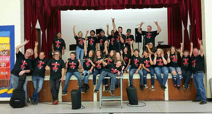 Grand Canyon's School of Rock is increasingly popular, with 20 students participating this year. Robert Bonfiglio, Joe Deninzon, Steve Benson and John Vail worked with students three and a half hours after school for four days, culminating in a concert at Shrine of the Ages Sept. 1 at 4 p.m.
