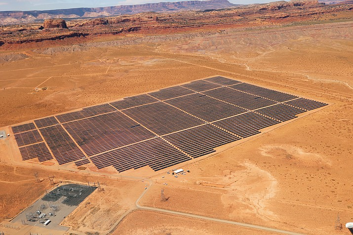 The Kayenta Solar Facility is located on 300-acres of land, some of which was grazing land given by local Navajo families to develop the solar farm.  Submitted photo