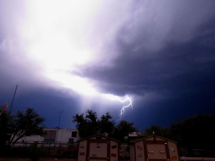 Lightning over Camp Verde