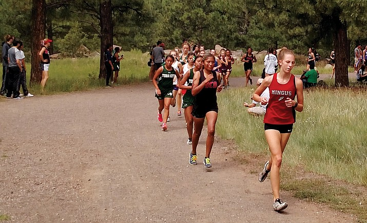 Mingus senior Hannah DeVore shifted gears in the final mile to finish 48th out of 83 runners in the girls' summit race. DeVore clocked in at 24:29 over 5K. VVN/Dan Engler