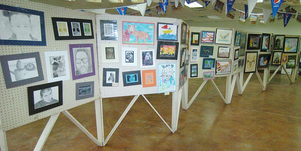 Student artwork is on display at the 2017 Yavapai County Fair at the Prescott Rodeo Grounds Wednesday, September 7 in Prescott . (Les Stukenberg/Courier).