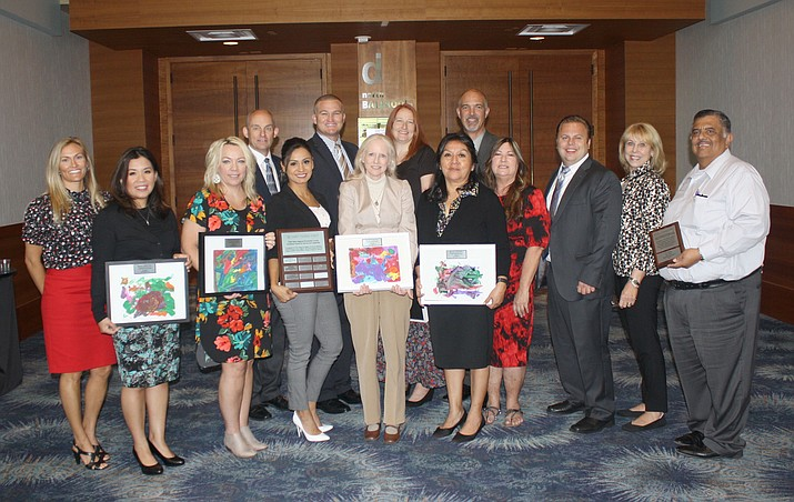 Community volunteers from the First Things First program of La Paz-Mohave Regional Council were honored with the Eddie Basha Award for leadership and service, presented Aug. 29 at the Early Childhood Summit in Phoenix.
