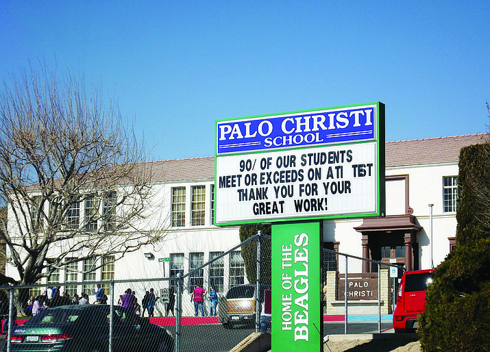 Palo Christi School during its bustling days. The City of Kingman Historic Preservation Committee and Kingman Unified School district are holding an open house Thursday.