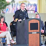 Central Arizona Fire & Medical Authority Chief Scott Freitag speaks during the Prescott Valley 2017 9/11 Patriot Day Ceremony at the Civic Center in Prescott Valley. (Les Stukenberg/Courier).