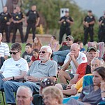 Hundreds attend the Prescott Valley 2017 9/11 Patriot Day Ceremony at the Civic Center in Prescott Valley. (Les Stukenberg/Courier).