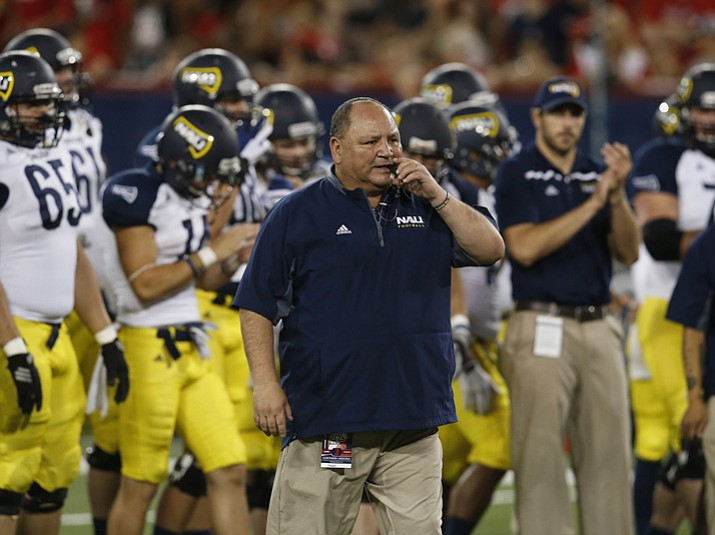 Northern Arizona head coach Jerome Souers before an NCAA college football game against Arizona on Saturday, Sept. 19, 2015, in Tucson. (Rick Scuteri/AP, File)