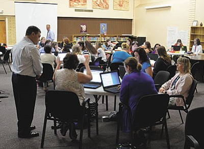 Kingman Unified had 70 new teachers at an induction and training seminar in 2016. The Arizona Board of Education has provided for an alternative path for teachers to earn certification.