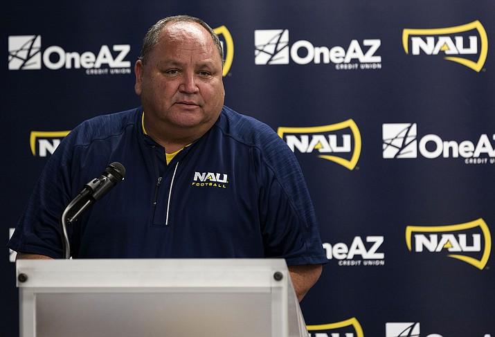 After 20 seasons leading NAU football, this will be Jerome Souers' last as Lumberjack head coach. Souers holds the Big Sky records for wins, conference wins and tenure. (Photo courtesy The Lumberjack Matt Strissel)
