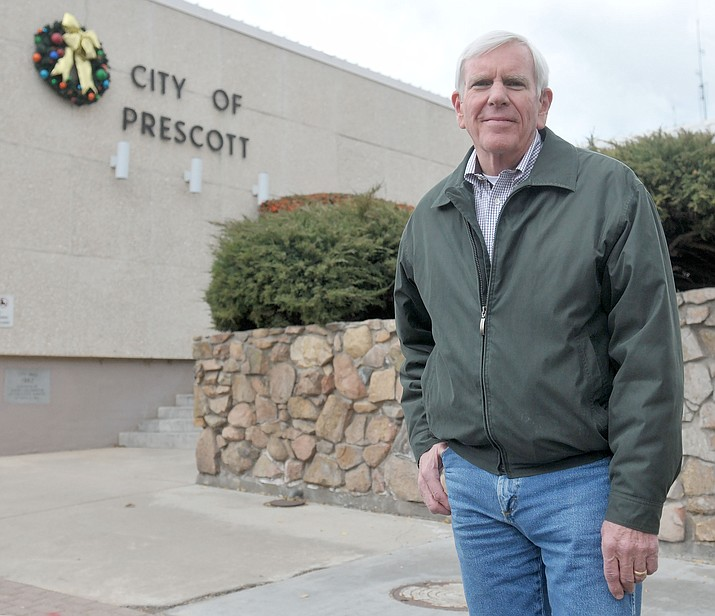 Prescott Mayor Harry Oberg was one of two votes against using $11 million of reserve funds to pay down the Public Safety Personnel Retirement System debt. (Courier file photo)