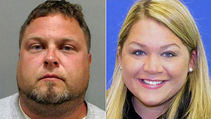 Tyler Tessier (left), the boyfriend of a pregnant Maryland teacher who went missing has been arrested and charged with her murder. Laura Wallen (right), 31, was found dead in a shallow grave in Damascus, about 38 miles west of Washington, Maryland on Wednesday. Police say Tessler was also engaged to another woman.
