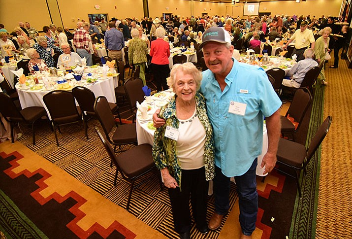 Mary Hill Skougaard, Class of '46, and Steve Skurja, Class of '67 during the Prescott High School Half Century Club's annual luncheon at the Prescott Resort Thursday, Sept. 14 in Prescott.