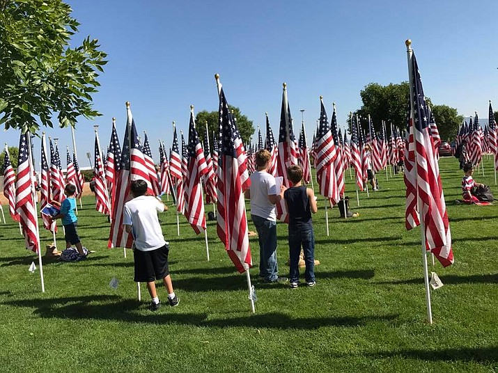 "Students from Lake Valley and Mountain View Elementary visited the Healing Fields last week. They are participating in the ""What the Healing Field Means to Me"" essay contest sponsored by the Town of PV and wanted to experience the event to better understand why it is so important to remember this tragic event in our history. (HUSD/Courtesy)"