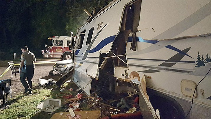 Debris and damage to the side of a motorhome, after an explosion, get the attention of law enforcement this past week in Cornville.