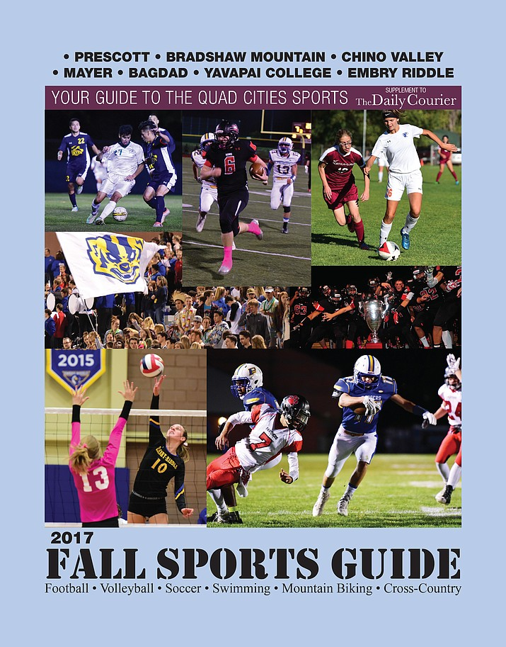Cover of the 2017 Fall Sports Guide in The Daily Courier.
