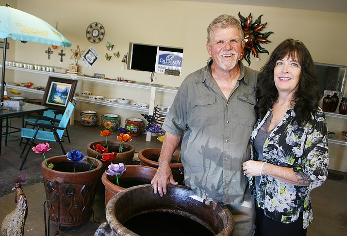 Randy and Debbie Jo Rosane of The Yard, Home and Garden, on Howards Road in Camp Verde off SR 260. (Photo by Bill Helm)