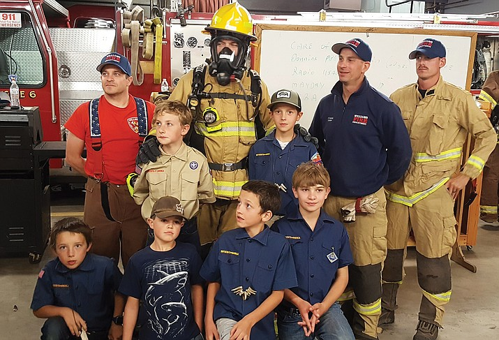 Williams Volunteer Fire Department hosted Boy Scout Cub pack 138.
