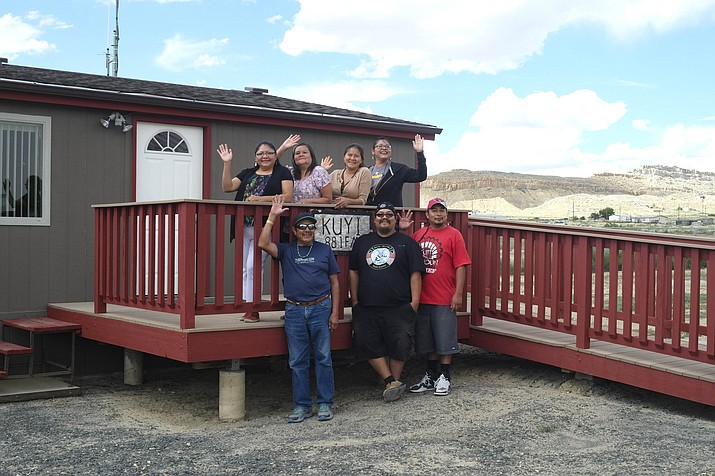 "The faces of KUYI Hopi Public Radio, from left, top row: Monica Nuvamsa, Bonnie Secakuku, Susan Sekaquaptewa and Renae Mahkewa. Bottow row, from left: Jimmy ""Jimbo"" Lucero, Anthony Dukepoo and Thomas Humeyestewa."