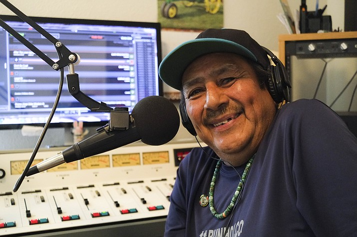 KUYI DJ Jimmy Davis Lucero has worked for the public radio station since 2000. He hosts a morning show and is known across Hopi land for his legendary 'morning cry.'