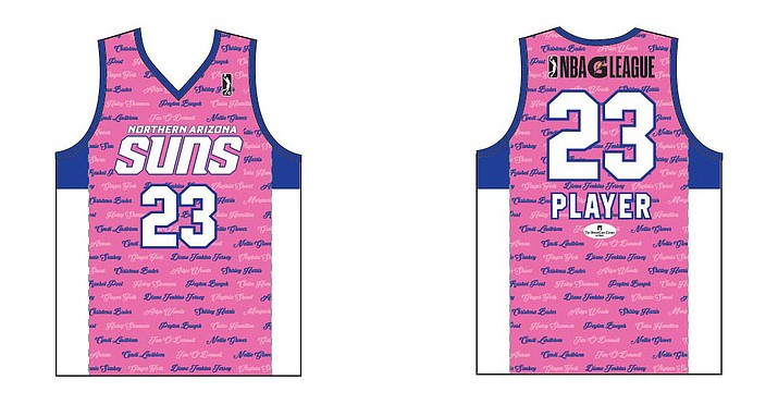 On Nov. 11 the NAZ Suns will host their second annual Breast Cancer Awareness Night. Fans can submit names of loved ones affect by breast cancer to appear on the team's special jerseys. (photo courtesy NAZ Suns)