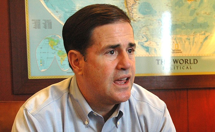 "Arizona Gov. Doug Ducey: ""Obamacare is a failure,"" he said. ""It's time for it to go."" File photo by Howard Fischer, Capitol Media Services"