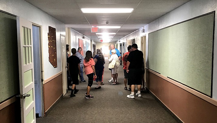 An open house at Palo Christi was held last week to show the possibilities that the old school holds for a city complex.