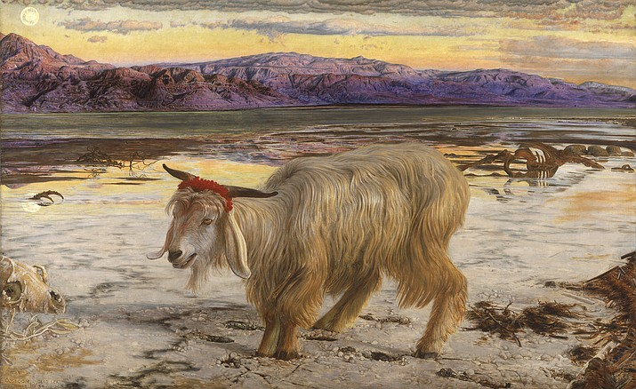 """The Scapegoat"" by William Holman Hunt (1827-1910)"