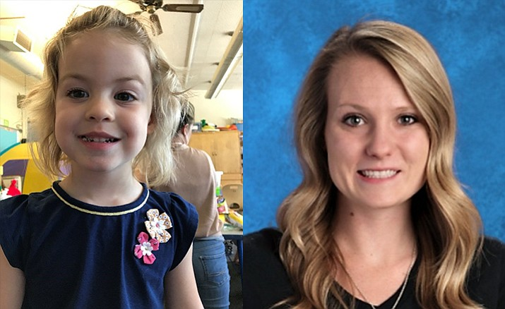 Maggie Connery, left, and Ashlee Page. Maggie is PUSD's Student of the week while Page is the Teacher of the Month. (PUSD/Courtesy)