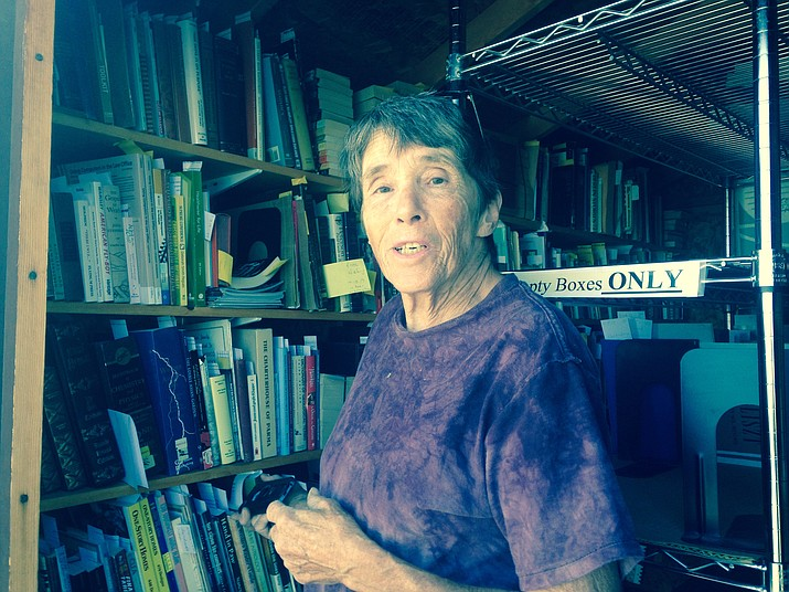 Cathy Frei, who has loved books since childhood, is a dedicated volunteer through the Chino Valley Library. (Diane DeHamer/Review)