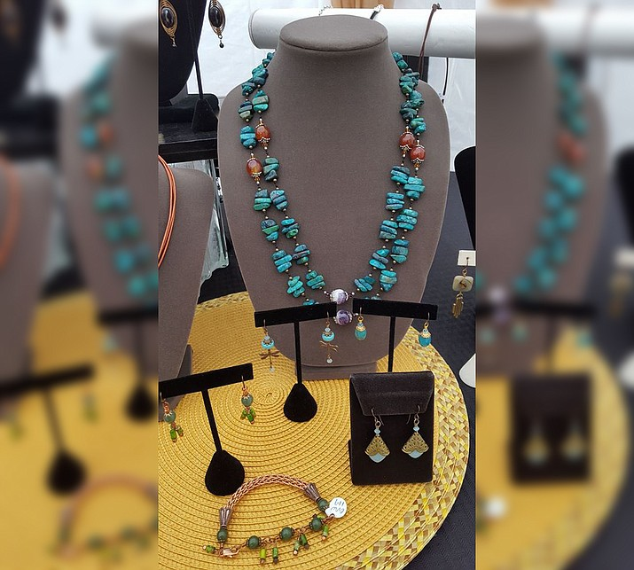 Christine Bendele of Christine's Jewelry Box uses natural gemstones, pearls, natural leather, sterling silver, copper, brass and niobium in her designs.